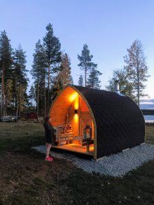 Utomhusbastu för trädgård Igloo Kaisa Malå Sweden 4