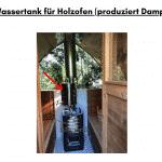 Wassertank für Holzofen für die Außensauna