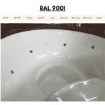 Weiß RAL 9001 für Badetonne aus Holz