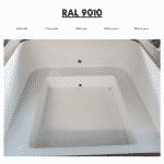 Weiß RAL 9010 für quadratischen rechteckigen Badezuber
