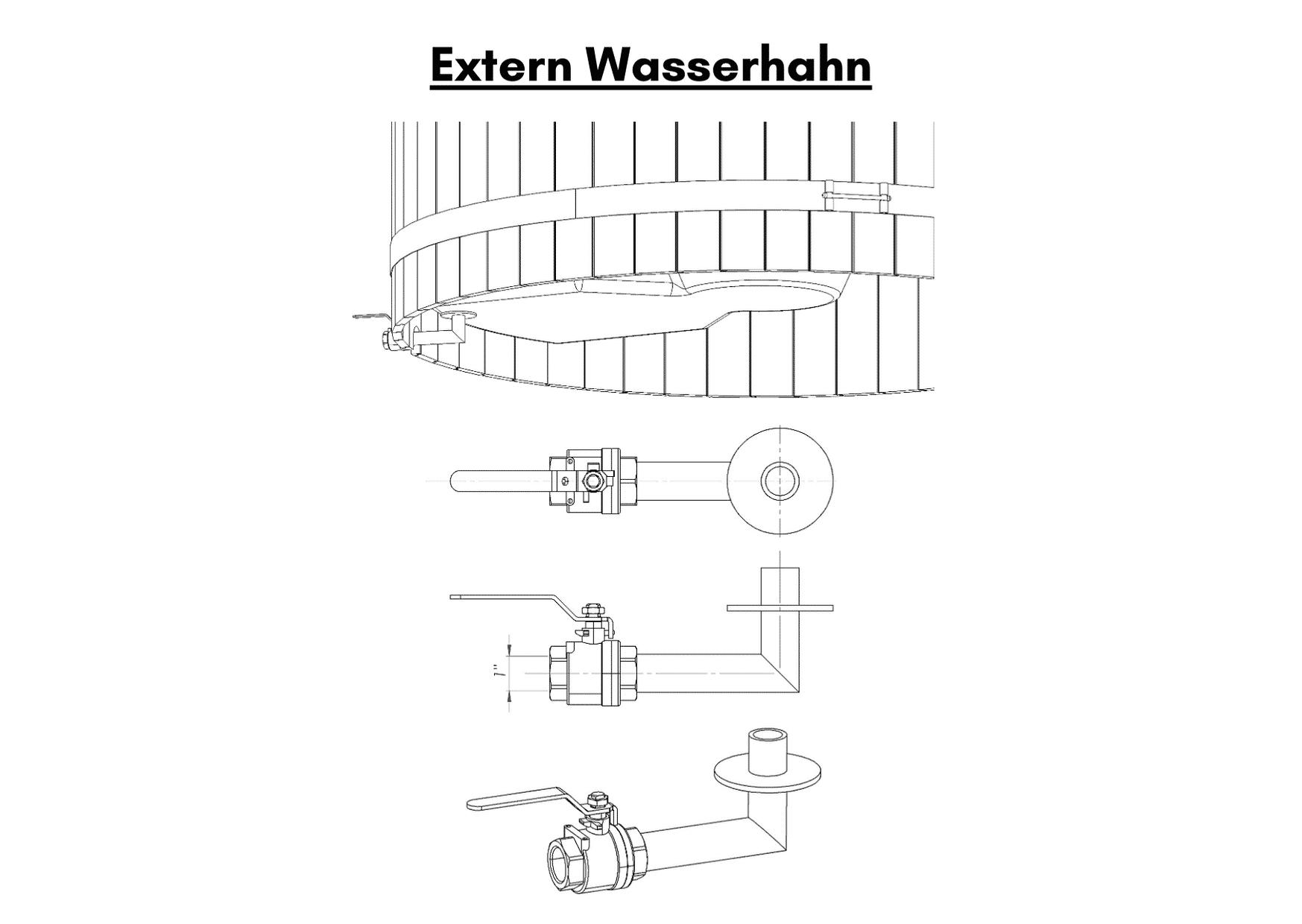 Wellness basic Extern Wasserhahn