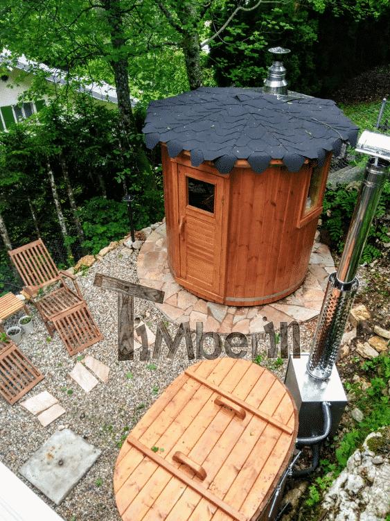 Badetonne aus Holz für 2 Personen 1