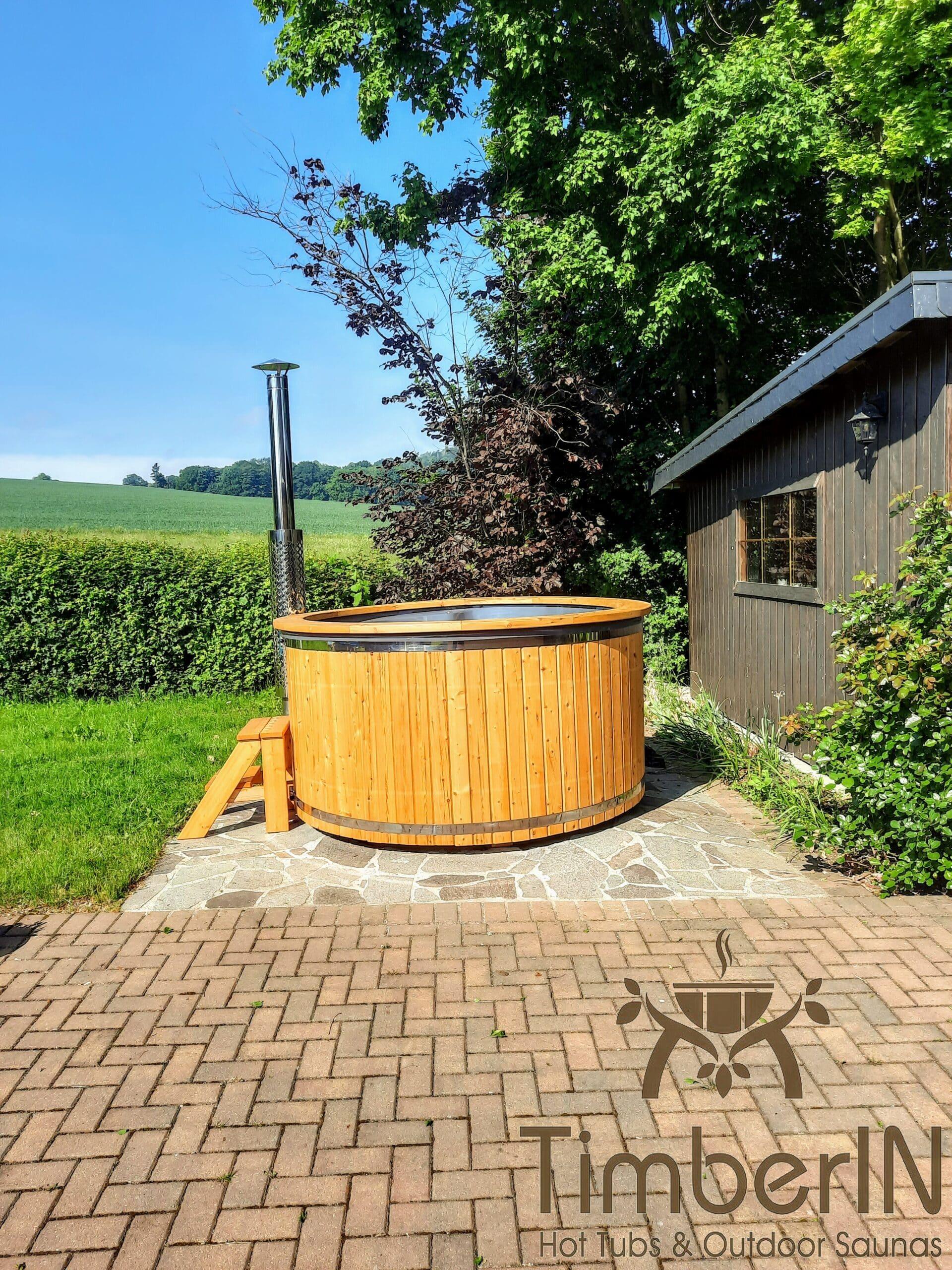 Hot Tub Pot Badefass mit Sprudel Massageduesen 1 scaled