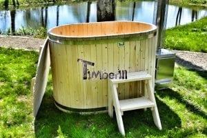 Badewanne Ofuro aus Holz für 2 Personen 3