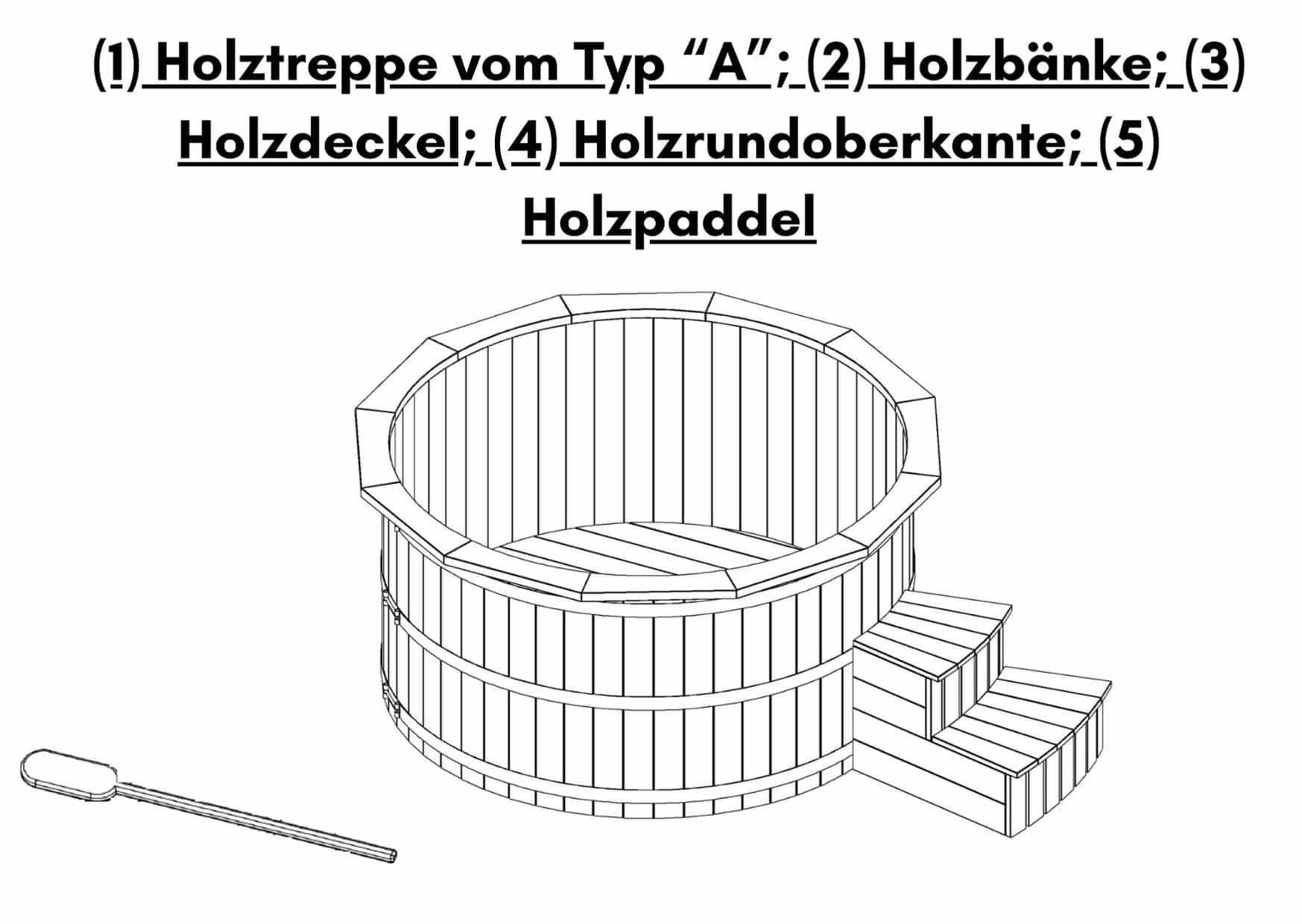 Badebottich Badetonne Thermoholz 2