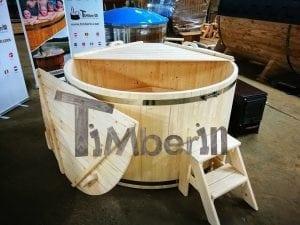Badezuber aus Holz Basic Modell Sibirische Fichte 6