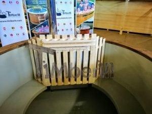 Badezuber mit Kunststoffeinsatz Vintage TimberIN 27