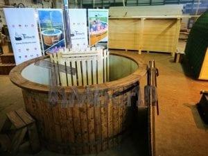 Badezuber mit Kunststoffeinsatz Vintage TimberIN 3