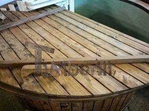 Badezuber mit Kunststoffeinsatz Vintage TimberIN 30