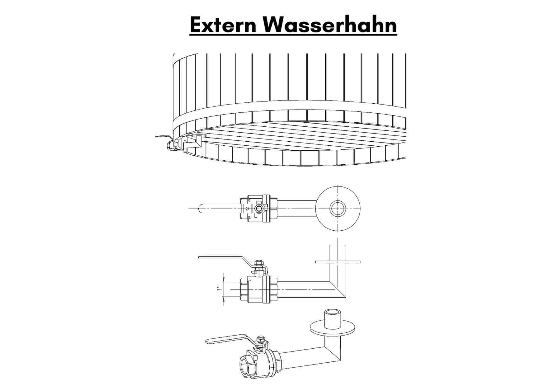 Extern Wasserhahn