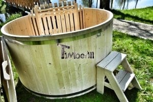 Holzbadetonne Basic Modell mit Innen oder Aussenofen 10