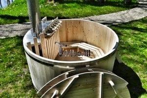 Holzbadetonne Basic Modell mit Innen oder Aussenofen 12