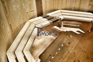 Holzbadetonne Basic Modell mit Innen oder Aussenofen 17