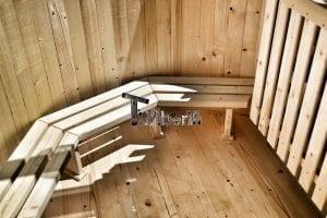 Holzbadetonne Basic Modell mit Innen oder Aussenofen 18
