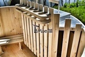 Holzbadetonne Basic Modell mit Innen oder Aussenofen 19