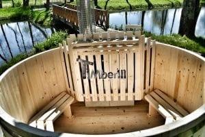 Holzbadetonne Basic Modell mit Innen oder Aussenofen 24