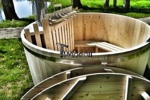 Holzbadetonne Basic Modell mit Innen oder Aussenofen 25