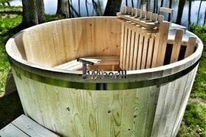 Holzbadetonne Basic Modell mit Innen oder Aussenofen 9