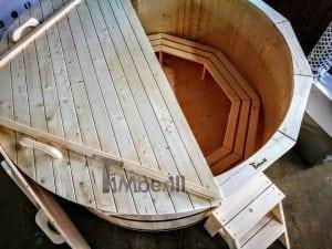 Holzbadezuber mit aussenofen 12