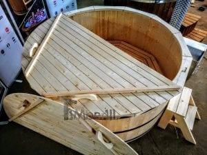Holzbadezuber mit aussenofen 9