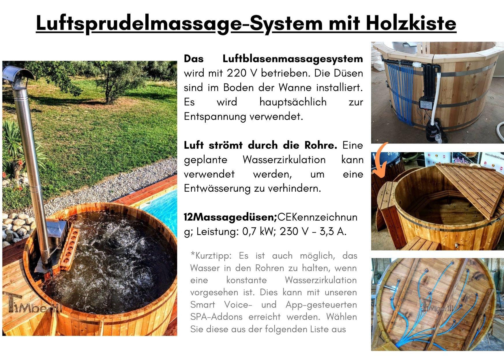 Luftsprudelmassage System mit Holzkiste
