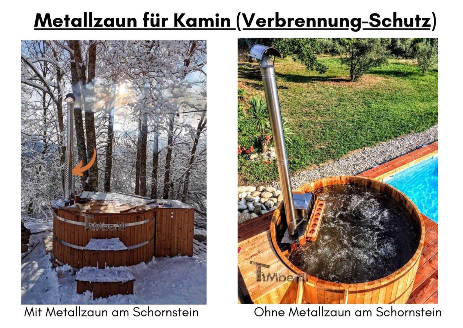 Metallzaun fuer Kamin Verbrennung Schutz 1