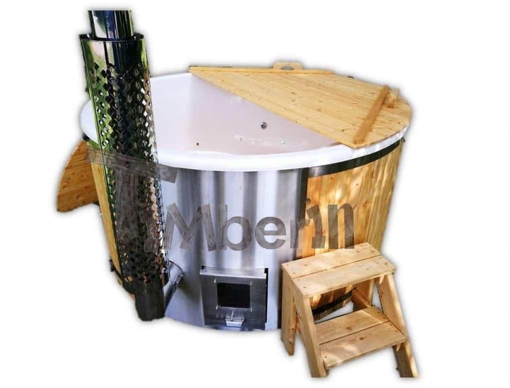 Hot Tub Pot Badefass mit Sprudel Massagedüsen