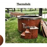 Thermoholz Badezuber elektrisch beheizt mit Elektroheizung