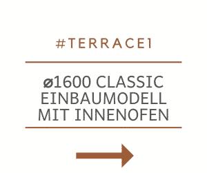 Badetonne Fiberglas Terrasse Einbaumodell Classic Modell 1