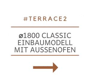Badetonne Fiberglas Terrasse Einbaumodell Classic Modell 2