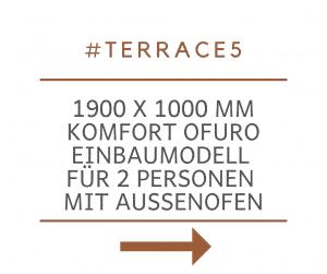 Badetonne Fiberglas Terrasse Einbaumodell Classic Modell 6
