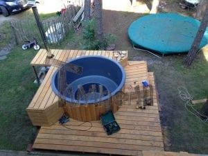 Hot Tub Badebottich mit Holzheizung für die Terrasse TimberIN 10