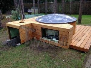 Hot Tub Badebottich mit Holzheizung für die Terrasse TimberIN 11
