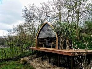 Außensauna für Garten Iglu Design 1 3