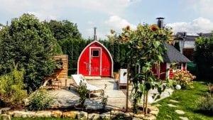 Außensauna für Garten Iglu Design 1 4