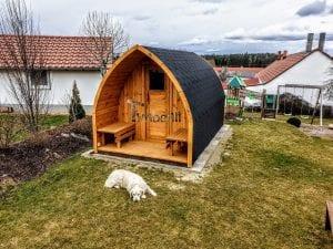 Außensauna für Garten Iglu Design 1 8