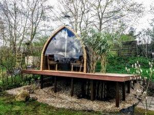 Außensauna für Garten Iglu Design 2 4