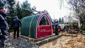 Außensauna für Garten Iglu Design 3 10