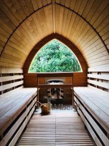 Außensauna für Garten Iglu Design 3 2