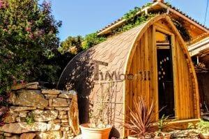 Außensauna für Garten Iglu Design 3 9