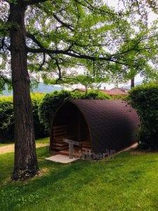 Außensauna für Garten Iglu Design 4 2