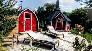 Außensauna für Garten Iglu Design 4 5