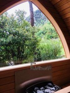 Außensauna für Garten Iglu Design 5 2