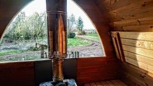 Außensauna für Garten Iglu Design 5 7