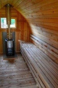 Iglu Saunafass mit Holzofen TimberIN 15