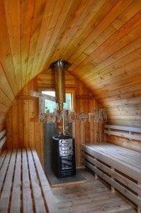 Iglu Saunafass mit Holzofen TimberIN 25