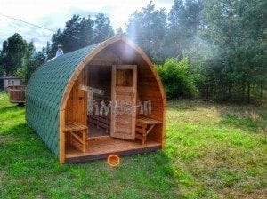 Iglu Saunafass mit Holzofen TimberIN 38