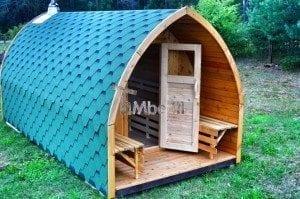 Iglu Saunafass mit Holzofen TimberIN 8