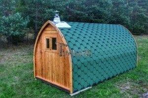Iglu Saunafass mit Holzofen TimberIN 9