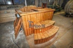 Luxus QUADRATISCHE Hot Tub mit Kunststoffeinsatz 101